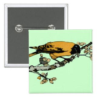 Rielaboration del ejemplo amarillo del pájaro del pin cuadrado