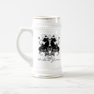 Rielaboration of Vintage Lions with Swirls Beer Stein