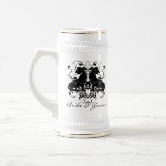 Rielaboration of Vintage Lions with Swirls 18 Oz Beer Stein