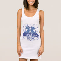 Rielaboration of Vintage Lions with Swirls Sleeveless Dress