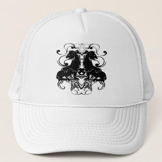 Rielaboration of Vintage Lions with Swirls Trucker Hat