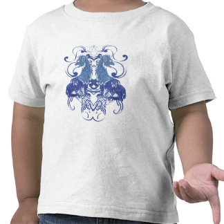 Rielaboration of Vintage Lions with Swirls Tshirts