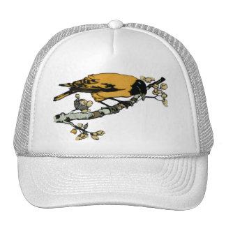 Rielaboration of Yellow Vintage Bird Illustration Trucker Hat