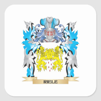 Riele Coat of Arms - Family Crest Square Stickers