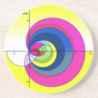 Riemann zeta function yellow.png beverage coasters