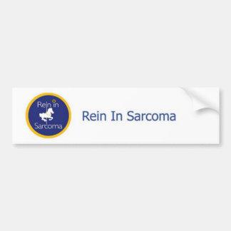 Rienda en pegatina para el parachoques del sarcoma etiqueta de parachoque