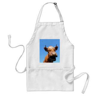 Riendo vaca delantal