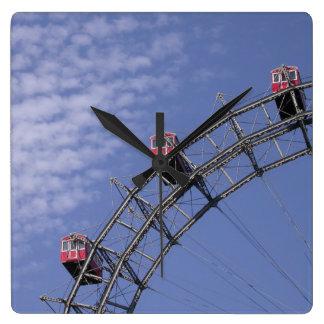 Riesenrad In Prater Vienna Austria Square Wall Clock