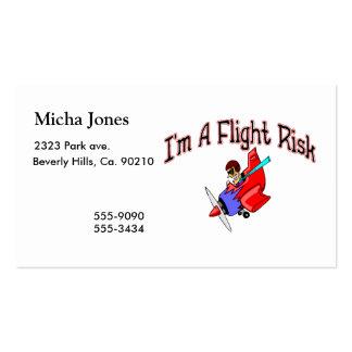 Riesgo de vuelo tarjetas de visita