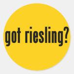 ¿riesling conseguido? pegatina redonda