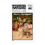 Riesling says Merry Christmas Postage Stamps
