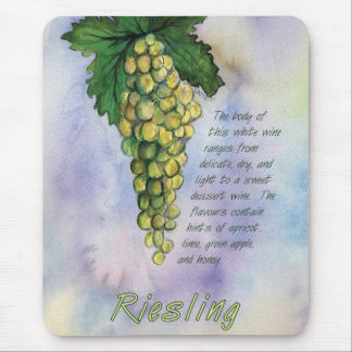 Riesling White Wine Grapes Mousepad