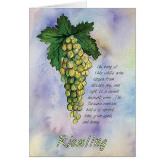 Riesling Wine Grapes Greeting Card