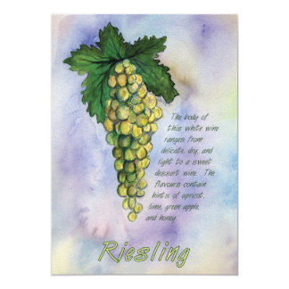 Riesling Wine Grapes Invitation