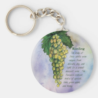 Riesling Wine Grapes Keychain