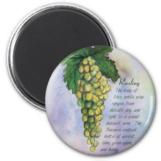 Riesling Wine Grapes Magnet