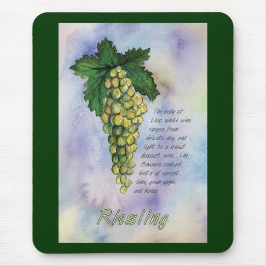Riesling Wine Grapes Mousepad