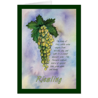 Riesling Wine Grapes Note Card