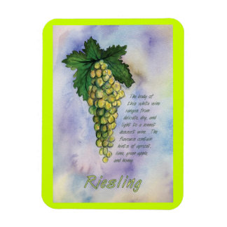 Riesling Wine Grapes Painting Art Magnet