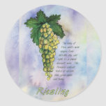 Riesling Wine Grapes Sticker