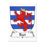 Riet Family Crest Stretched Canvas Print