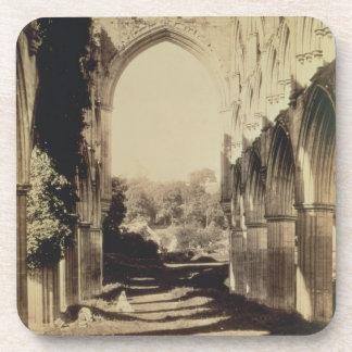Rievaulx Abbey, North Yorkshire, 1854 (sepia photo Beverage Coaster