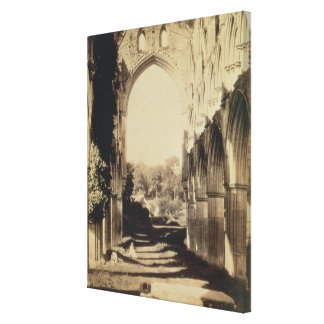 Rievaulx Abbey, North Yorkshire, 1854 (sepia photo Canvas Print