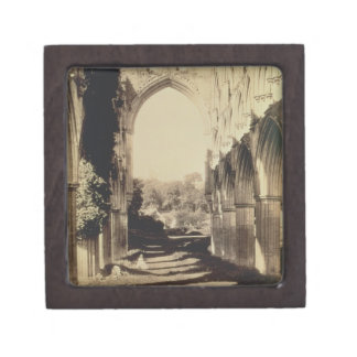 Rievaulx Abbey, North Yorkshire, 1854 (sepia photo Jewelry Box
