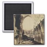 Rievaulx Abbey, North Yorkshire, 1854 (sepia photo 2 Inch Square Magnet