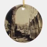 Rievaulx Abbey, North Yorkshire, 1854 (sepia photo Christmas Ornaments