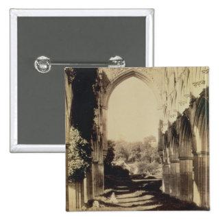 Rievaulx Abbey, North Yorkshire, 1854 (sepia photo Pinback Button