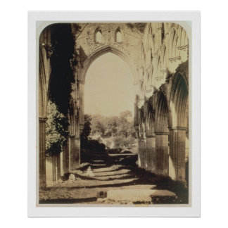 Rievaulx Abbey, North Yorkshire, 1854 (sepia photo Poster