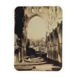 Rievaulx Abbey, North Yorkshire, 1854 (sepia photo Rectangular Magnet