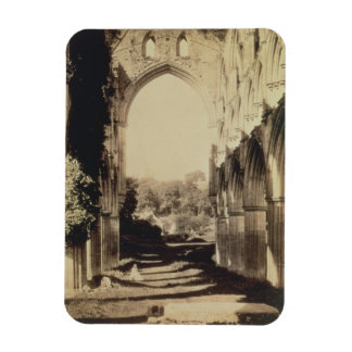 Rievaulx Abbey, North Yorkshire, 1854 (sepia photo Rectangular Magnet