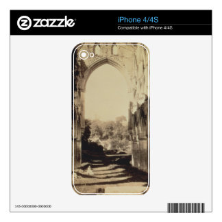 Rievaulx Abbey, North Yorkshire, 1854 (sepia photo Skin For iPhone 4