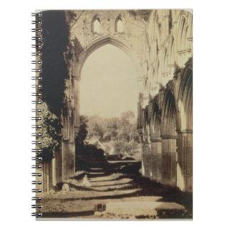 Rievaulx Abbey, North Yorkshire, 1854 (sepia photo Spiral Notebook