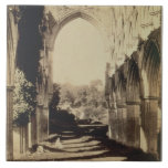 Rievaulx Abbey, North Yorkshire, 1854 (sepia photo Ceramic Tile