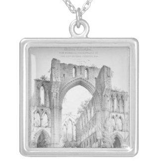Rievaulx Abbey Square Pendant Necklace