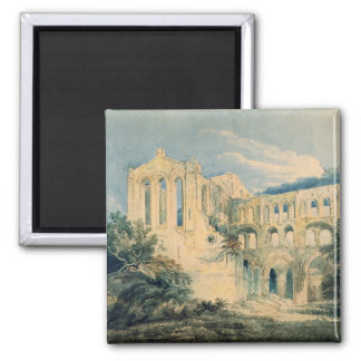 Rievaulx Abbey, Yorkshire, 1798 (w/c) 2 Inch Square Magnet