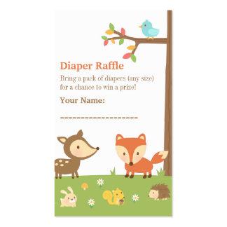 Rifa del pañal de la fiesta de bienvenida al bebé tarjetas de visita