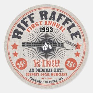 Rifa del riff etiquetas redondas