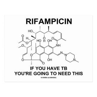 Rifampicin si usted tiene TB usted va a necesitar Tarjetas Postales