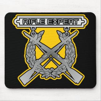 Rife Expert USMC Black Mouse Pad