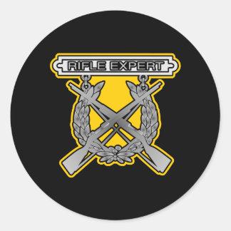 Rife Expert USMC Black Stickers