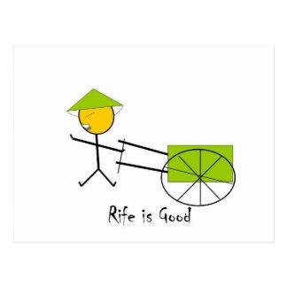 Rife is Good Rickshaw Postcard