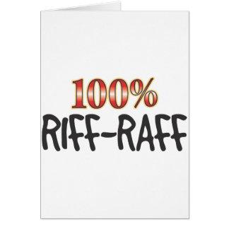 Riff-Raff 100 Percent Card