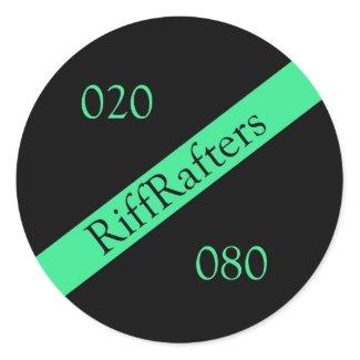 Riff Rafters Round Radio Sticker sticker