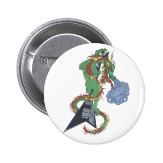 Riff the Ragin' Music Dragon Buttons