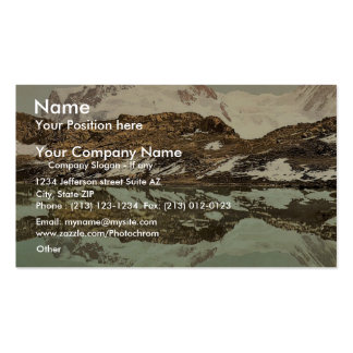 Riffel Lake and Monte Rosa Valais Alps of Switz Business Card Templates