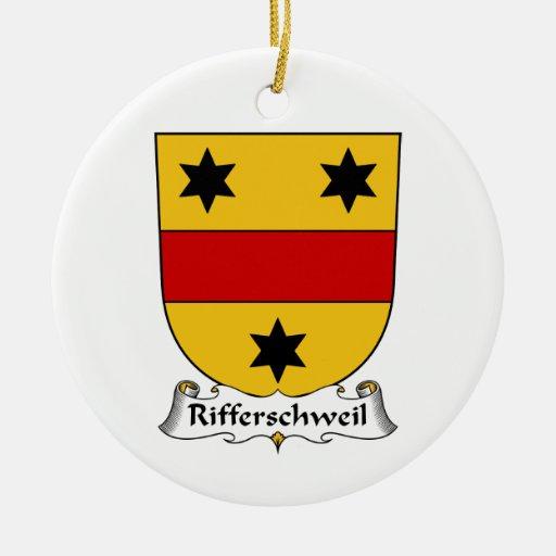 Rifferschweil Family Crest Christmas Ornaments